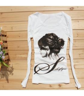 Femmes longues manches t-shirt