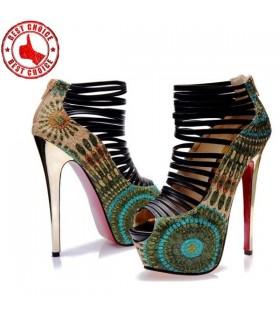 Sandales fashion fantaisie paon