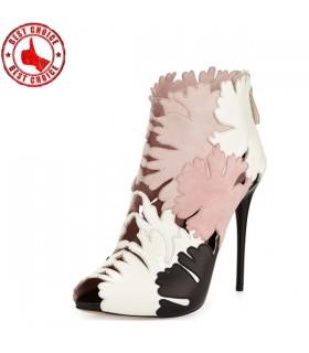 Lusso fiore sandali tacchi alti