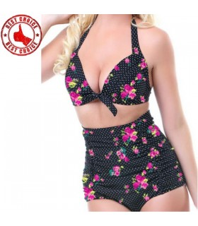 Vintage flower print swimsuit