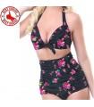 Vintage flower print swimsuit