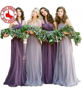 Quatre robes de demoiselles d'honneur tulle