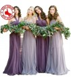 Vier Tüll Brautjungfern Kleider