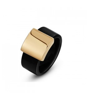 Black gold plated ring