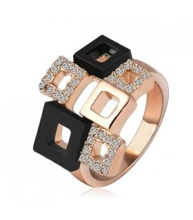 Disegno oro Cubic anello placcato