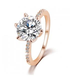 Grande pietra di cristallo anello placcato oro