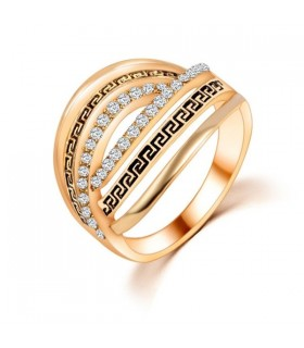 Vintage style gold plated ring