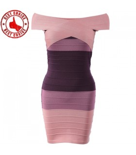 Off shoulder bodycon bandage dress