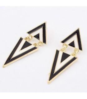 Boucles d'oreilles triangulaires géométriques