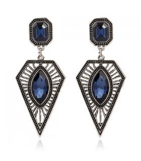 Blauer Stein sexy hängende Ohrringe