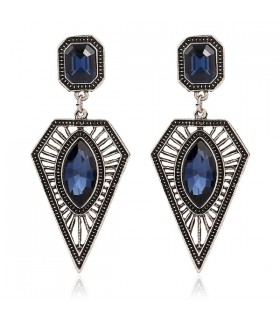 Blue stone sexy hanging earrings