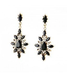 Black stones sexy earrings