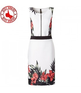 Summer front zipper dress