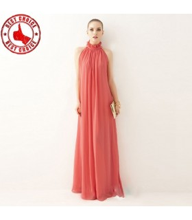 Maxi long chiffon dress