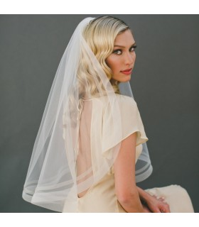 Real silk organza wedding veil
