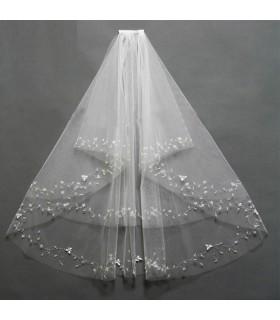 Besticktem Tüll Elfenbein Kleid