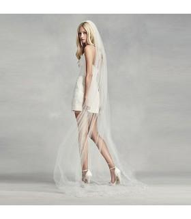 Verziertes Seide- und Tullemidl Kleid