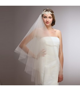 Retro elastic band wedding veil