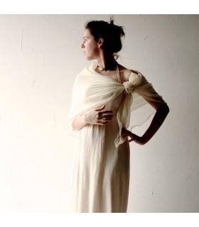 Herzogin weg von der Schulter Rüschen bodenlange Brautkleid