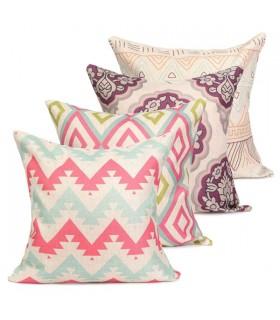 Quattro annata cuscino copertina in lino