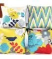 Quatre oreiller de couverture de toile vintage