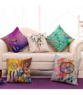 Linge Dreamcatcher oreiller cinq couvercle