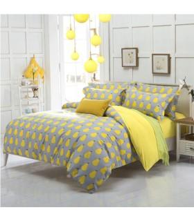Gelbe moderne Bettwäsche
