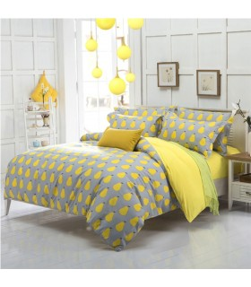 Yellow pear modern bed sheets