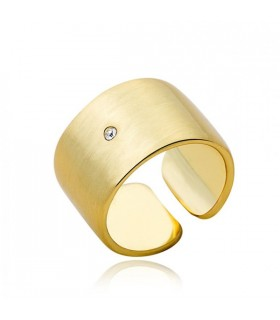 Gold plated simple small crystal ring