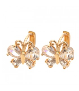 Butterfly gold plated earrings