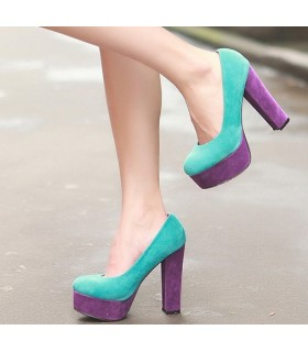 Fantasia colorata scarpe