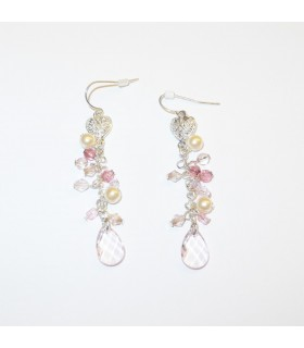 Summer pink breeze earrings