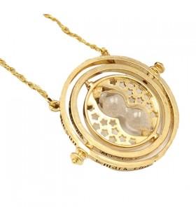Temps turner sablier tournant collier pendentif