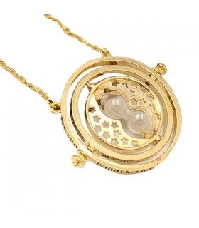 Time turner rotating hourglass pendant necklace