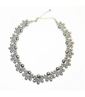 Perles en argent collier de style baroque