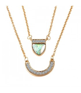 Double chain summer necklace