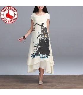 Print fake two dresses
