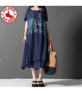 En vrac coton loisirs robe imprimée