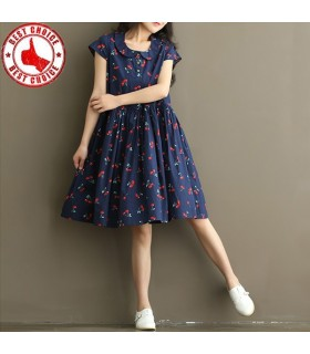 Cherry print sweet style dress