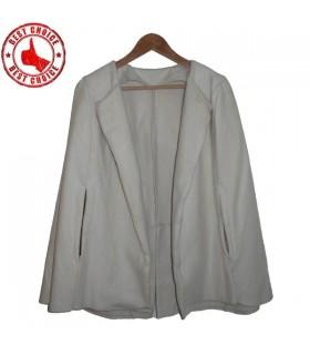 Vintage dirty white cloak coat