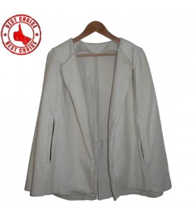 Vintage sporco cappotto mantello bianco
