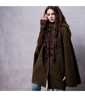 Vintage cappotto di lana cloack etnica