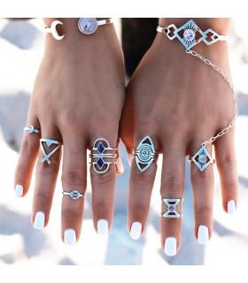 Ring Set böhmischen tibetanischen Ring