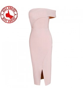 Pink elegant bodycon bandage dress