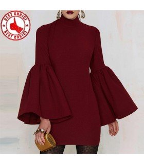 Dos nu robe rouge bordeaux super sexy