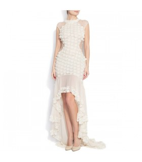 Transparencies silk dress