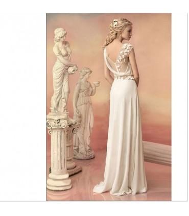 d esse grecque robe de mari e champagne l gante size 40. Black Bedroom Furniture Sets. Home Design Ideas