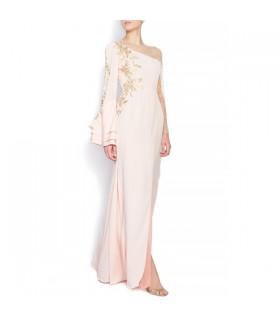 Soie ivoire coton doux train dentelle retour sexy robe de mariée