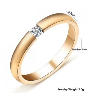 17 K Gold überzogener Kristallring