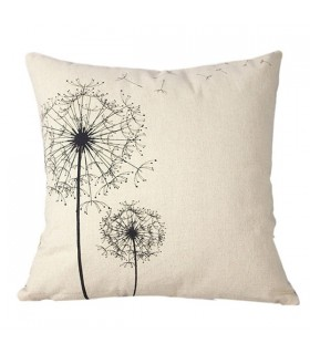 Linen square dandelion pillow case